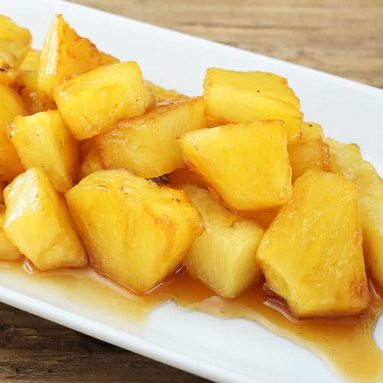 Poêlée d'ananas au Melfor Côté Balsamique